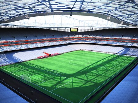 stadium top 3d rendering, the imaginary soccer arena
