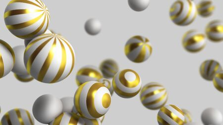 abstract background white balls on a white background 3d render