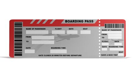 Concepto de mundo moderno mundo viajando billetes de avión vacíos en blanco 3D Render Foto de archivo