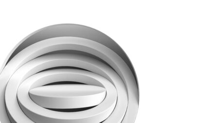 simple round white podium for product presentation 3d render on white