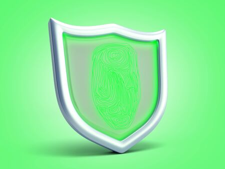 secure resource concept safety sign 3d render on green gradient