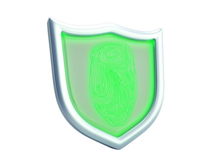Secure resource concept safety sign 3d render on white no shadow