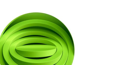 simple round green podium for product presentation 3d render on white