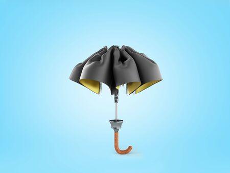 Closed two tone umbrella