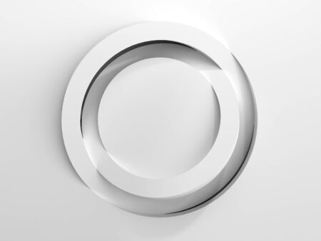 simple round white podium for product presentation 3d render Stock Photo