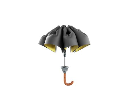 closed two tone umbrella 3d render on white no shadow