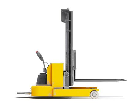 Forklift loader isolated 3D render on white