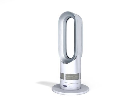 modern air purifier with heating and cooling function 3d render on white