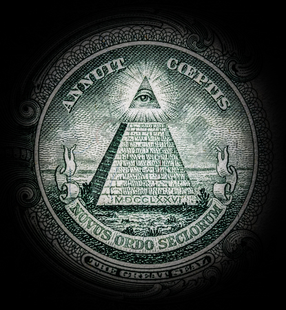 pyramid with all-seeing eye Stock fotó - 61606040