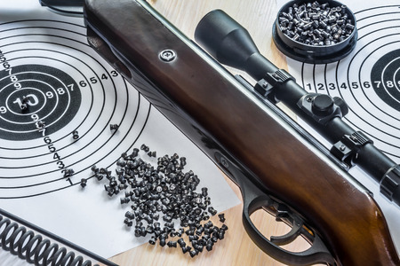 sniper training: air gun with bullets targets