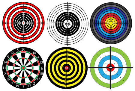 a large set of different targets, vector