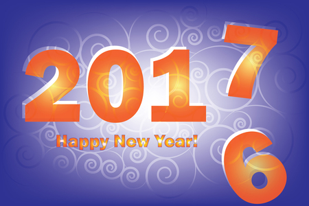 replace: New Year 2017 is coming. Happy New Year 2017 replace 2016 year.