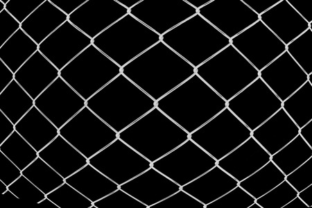 convexity: Convexity metal netting on black background Stock Photo