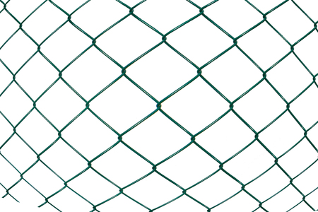 gray netting: Convexity metal netting on white background