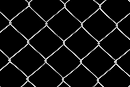 Metal netting on black background