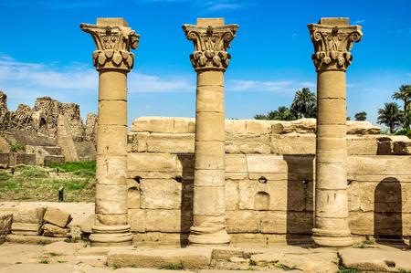 Luxor, Karnak Temple Complex. column egypt. ancient building, Stop ruins, pillars