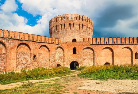 Old Smolensk Kremlin red brick Editorial