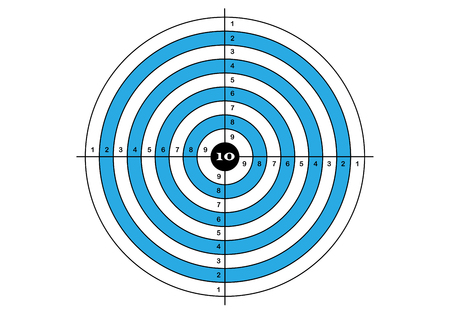 Target shooting in blue color