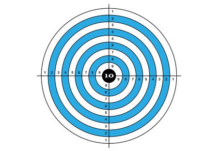 marksman: Target shooting in blue color
