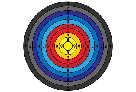 Target for archery, vector, gradient
