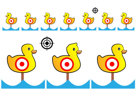 marksman: Target painted yellow ducks for shooting range and Entertainment