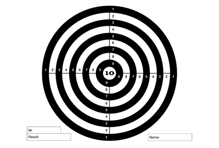Target for shooting, vector, in white and black colors