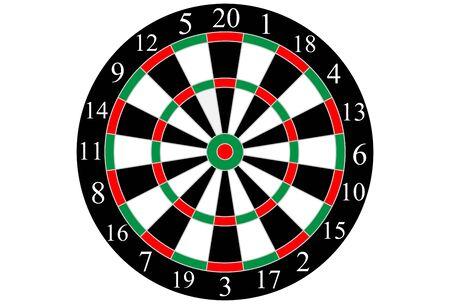 Classic shooting dart board