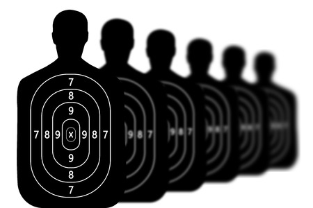 target shooting range background Stock Photo