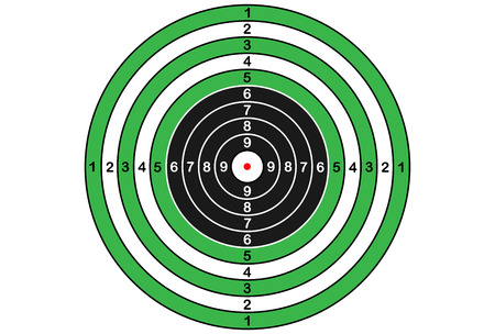 Vector target for rifle and archery