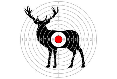 Obiettivo per le riprese, al centro del cervo. Vettore