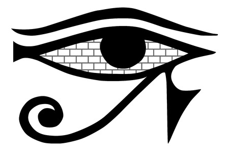 All Seeing Eye Mason Sign On A White Background Masonic Symbol