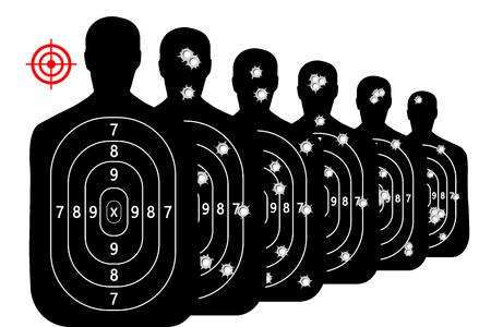 tir à tir plage fond vecteur cible des trous de balles Vecteurs