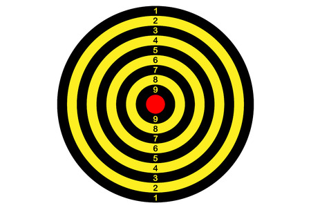 target shooting (in yellow and black color)