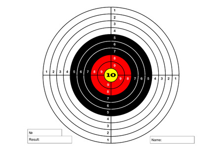 Target sheet for shooting range