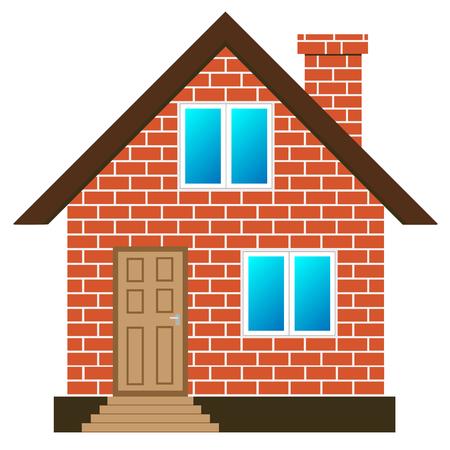 Vettore casa di mattoni