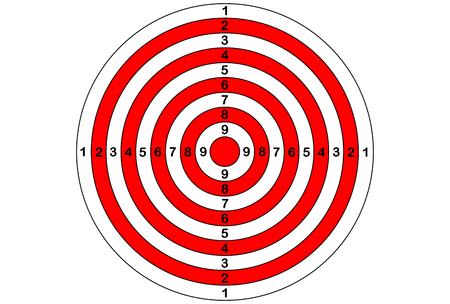 sniper training: Vector target for rifle and archery