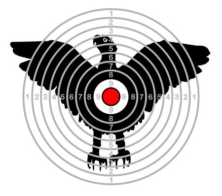 target shooting range bird eagle vector Çizim