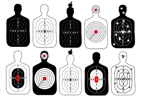 hitman: target range shoot human vector set Illustration
