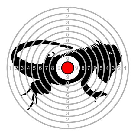 Target shoot range chameleon