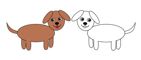 dogs, set, vector, illustration Illustration