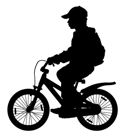 repel: Child on a bicycle silhouette