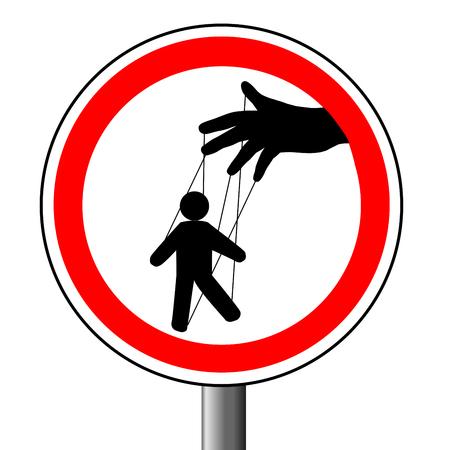 Manipulation of a puppet Illustration