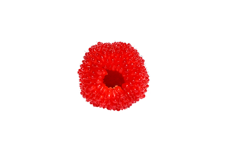 Raspberry roseleaf, hybrid of raspberry and strawberry and blackberry, isolated on white background Stock Photo