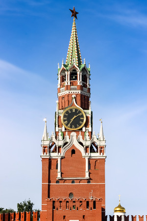 Kremlin clock on red square, Moscow, Russia
