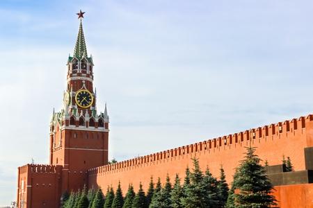 Moscow Kremlin, Red Square, Spasskaya Tower Editorial
