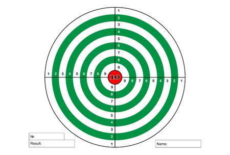 Target shooting (green color with red)