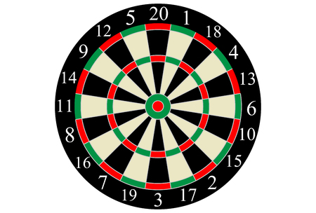 Vector dart board Illustration