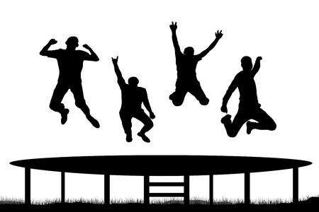 bane: People jumping trampoline Illustration