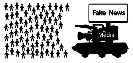 Mass media fake news, information war
