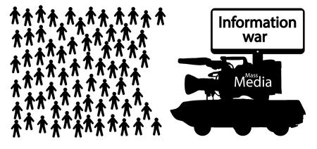 Guerra de información, noticias falsas Foto de archivo - 88853924